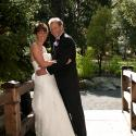 Gorge park; bride; couple; garden; Gorge waterway; groom; outside; portrait;
