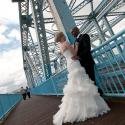 Johnson street bridge wedding couple