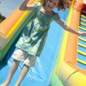 Bouncy castles by Funner Inflatables; Cadboro Bay Festival; Saanich; event photo