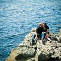 Couple; engagement; ocean; saxe point; victoria bc