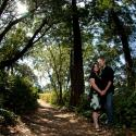 trees, woods,Couple; engagement; saxe point; victoria bc