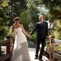 Kinsmen Gorge park; bride; couple; garden; Gorge waterway; groom; outside;
