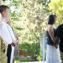 2011; Brentwood Bay; Canada; bride; couple; family; groom; happy; intimate cerem